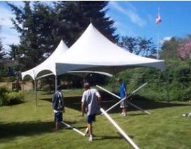 photo of tent setup